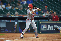 Marco Ramos (22) of the Louisiana Ragin' Cajuns at bat against the Kentucky Wildcats in game seven of the 2018 Shriners Hospitals for Children College Classic at Minute Maid Park on March 4, 2018 in Houston, Texas.  The Wildcats defeated the Ragin' Cajuns 10-4. (Brian Westerholt/Four Seam Images)