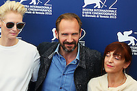 Tilda Swinton, left, and Ralph Fiennes attend a photocall for the movie 'A Bigger Splash' during the 72nd Venice Film Festival at the Palazzo Del Cinema in Venice, Italy, September 6, 2015. <br /> UPDATE IMAGES PRESS/Stephen Richie