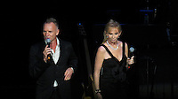 NEW YORK, NY - OCTOBER 4: Sting and Trudie Styler at Paul Simon's Children's Health Fund's 25th Anniversary Benefit Concert at Radio City Music Hall on October 4, 2012. Credit Jen Maler/MediaPunch Inc. © /NortePhoto /©NortePhoto