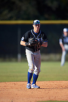 Indiana State Sycamores third baseman Andy Young (15) during a game against the Boston College Eagles on February 27, 2016 at North Charlotte Regional Park in Port Charlotte, Florida.  Boston College defeated Indiana State 5-3.  (Mike Janes/Four Seam Images)