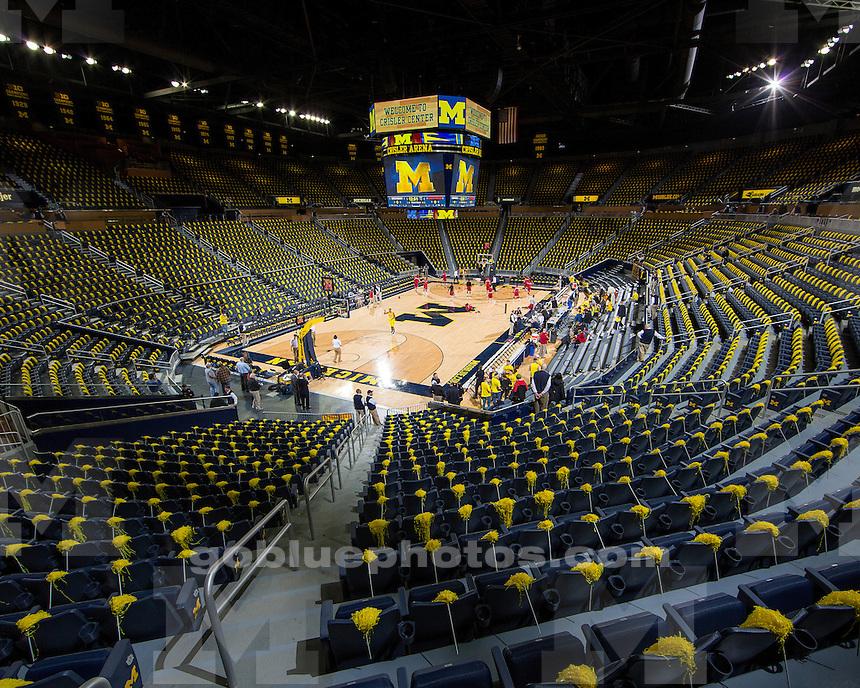 The University of Michigan men's basketball team beat Arkansas, 80-67, at Crisler Center in Ann Arbor, Miich., on December 8, 2012.