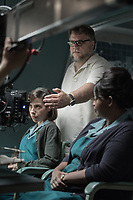 The Shape of Water (2017) <br /> Sally Hawkins, Director/Writer/Producer  Guillermo del Toro and Octavia Spencer on the set of T<br /> *Filmstill - Editorial Use Only*<br /> CAP/KFS<br /> Image supplied by Capital Pictures