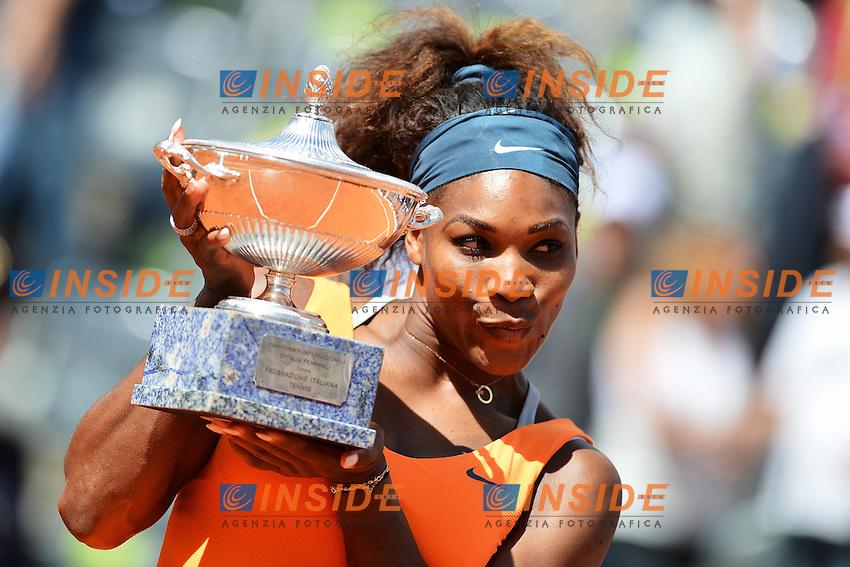 Serena Williams Vincitrice .The Winner Serena Williams .Roma 19/05/2013 Foro Italico .Tennis Internazionali d'Italia 2013 .Finale Final .Foto Andrea Staccioli Insidefoto