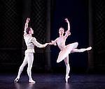 "English National Ballet. ""Celebration"". Thomas Edur and Agnes Oaks gala performance at Sadlers Wells in tribute to their carreer. ""Sleeping Beauty"" pas de deux. Chorographer: Marius Petipa."