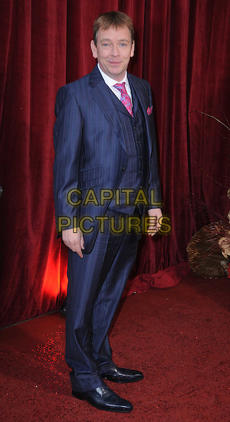 ADAM WOODYATT.Attending the British Soap Awards 2010, London Television Centre, London, England, UK, 8th May 2010.arrivals  full length blue grey gray suit pink tie.CAP/DS.©Dudley Smith/Capital Pictures