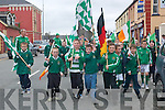 having a great time .at the Listowel St Patrick's Day parade on Sunday.