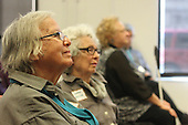 The 2016 Mother&rsquo;s Day Report sponsored by OWL took place Saturday afternoon at the Community Programs Accelerator located at 5225 S. Cottage Grove. The topic for this year&rsquo;s report was &ldquo;Aging in Community&rdquo;.<br /> <br /> 8735 &ndash; Hyde Park, Kenwod resident Ruth Knack listens to the presentation wth others.<br /> <br /> Please 'Like' &quot;Spencer Bibbs Photography&quot; on Facebook.<br /> <br /> All rights to this photo are owned by Spencer Bibbs of Spencer Bibbs Photography and may only be used in any way shape or form, whole or in part with written permission by the owner of the photo, Spencer Bibbs.<br /> <br /> For all of your photography needs, please contact Spencer Bibbs at 773-895-4744. I can also be reached in the following ways:<br /> <br /> Website &ndash; www.spbdigitalconcepts.photoshelter.com<br /> <br /> Text - Text &ldquo;Spencer Bibbs&rdquo; to 72727<br /> <br /> Email &ndash; spencerbibbsphotography@yahoo.com