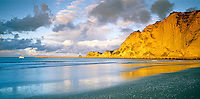 Tolaga Bay beach at sunset