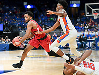 NWA Democrat-Gazette/CHARLIE KAIJO Arkansas Razorbacks guard Daryl Macon (4) runs down the court during the Southeastern Conference Men's Basketball Tournament quarterfinals, Friday, March 9, 2018 at Scottrade Center in St. Louis, Mo.