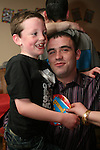 Patrick Leddy with Colm Leddy-McDonagh at 21st in The Rugby Club...Photo NEWSFILE/Jenny Matthews.(Photo credit should read Jenny Matthews/NEWSFILE)....This Picture has been sent you under the condtions enclosed by:.Newsfile Ltd..The Studio,.Millmount Abbey,.Drogheda,.Co Meath..Ireland..Tel: +353(0)41-9871240.Fax: +353(0)41-9871260.GSM: +353(0)86-2500958.email: pictures@newsfile.ie.www.newsfile.ie.FTP: 193.120.102.198.