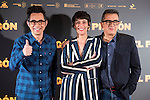 Berto Romero, Belen Cuesta and Andreu Buenafuente during the presentation of the film &quot;El Preg&oacute;n&quot; in Madrid, March 15, 2016<br /> (ALTERPHOTOS/BorjaB.Hojas)