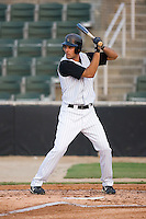 Jordan Danks (13) of the Kannapolis Intimidators makes his professional debut at Fieldcrest Cannon Stadium in Kannapolis, NC, Wednesday August 20, 2008. (Photo by Brian Westerholt / Four Seam Images)
