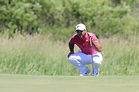 Jason Day (AUS) on the 1st green during Thursday's Round 1 of the 117th U.S. Open Championship 2017 held at Erin Hills, Erin, Wisconsin, USA. 15th June 2017.<br /> Picture: Eoin Clarke | Golffile<br /> <br /> <br /> All photos usage must carry mandatory copyright credit (&copy; Golffile | Eoin Clarke)