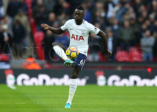 25th November 2017, Wembley Stadium, London England; EPL Premier League football, Tottenham Hotspur versus West Bromwich Albion; Davinson Sanchez of Tottenham Hotspur in action