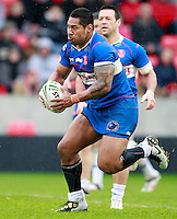 PICTURE BY CHRIS MANGNALL /SWPIX.COM...Rugby League - Super League  - Salford City Reds v Hull Kingston Rovers - Salford City Stadium , Eccles, England  - 09/04/12...  Hull's Mickey Paea