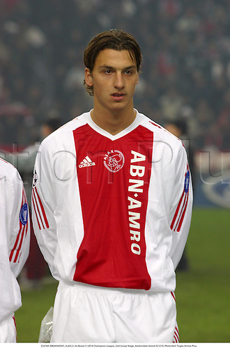 ZLATAN IBRAHIMOVIC, AJAX 2 v As Roma 1, UEFA Champions League, 2nd Group Stage, Amsterdam ArenA 021210. Photo:Neil Tingle/Action Plus....2002.football soccer.portrait.