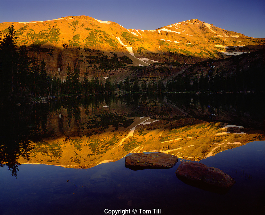 Mt . Agassiz Reflection, High Uintas Wilderness, Utah    Uinta Mountains. Ashley National Forest   Naturalist Basin