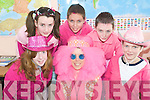 Pink fun: Taking part in the Pink Day at St Joseph's Secondary School on Friday in aid of the Marie Keating Foundation were front l-r Norma Houlihan, Joanne Gallagher (Teacher) and Ciaran Johnson. Back l-r Clare Walsh, Dale O'Sullivan and Sean Mulvihill.