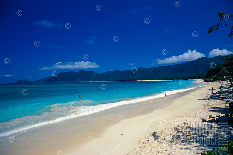 Waimanalo beach park, Windward island of Oahu
