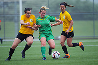 Action from the 2018 National Women's League football match between Capital and Central at Memorial Park in Petone, Wellington, New Zealand on Saturday, 3 November 2018. Photo: Dave Lintott / lintottphoto.co.nz