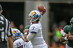 Kansas Jayhawks quarterback Peyton Bender (7) in action during the game between the Kansas Jayhawks and the Baylor Bears at the McLane Stadium in Waco, Texas.