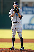 August 12, 2009:  Pitcher Kyle Morrison of the Vermont Lake Monsters delivers a pitch during a game at Dwyer Stadium in Batavia, NY.  The Lake Monsters are the Short-Season Class-A affiliate of the Washington Nationals.  Photo By Mike Janes/Four Seam Images