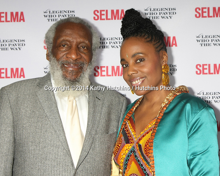 """SANTA BARBARA - DEC 6:  Dick Gregory, Ayanna Gregory at the """"Selma"""" & Legends Who Paved the Way Gala at the Bacara Resort & Spa on December 6, 2014 in Goleta, CA"""