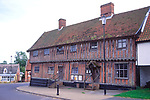 AMFY31 Half timbered building Laxfield town hall Suffolk England