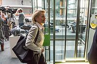 Verteidigungsministerin Ursula von der Leyen nach der Sitzung des Haushaltsausschuss des Deutschen Bundestag. Thema der Sitzung waren die Ausgaben des Bundesverteidigungsministeriums.<br /> 18.10.2018, Berlin<br /> Copyright: Christian-Ditsch.de<br /> [Inhaltsveraendernde Manipulation des Fotos nur nach ausdruecklicher Genehmigung des Fotografen. Vereinbarungen ueber Abtretung von Persoenlichkeitsrechten/Model Release der abgebildeten Person/Personen liegen nicht vor. NO MODEL RELEASE! Nur fuer Redaktionelle Zwecke. Don't publish without copyright Christian-Ditsch.de, Veroeffentlichung nur mit Fotografennennung, sowie gegen Honorar, MwSt. und Beleg. Konto: I N G - D i B a, IBAN DE58500105175400192269, BIC INGDDEFFXXX, Kontakt: post@christian-ditsch.de<br /> Bei der Bearbeitung der Dateiinformationen darf die Urheberkennzeichnung in den EXIF- und  IPTC-Daten nicht entfernt werden, diese sind in digitalen Medien nach §95c UrhG rechtlich geschuetzt. Der Urhebervermerk wird gemaess §13 UrhG verlangt.]