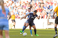 Bridgeview, IL, USA - Sunday, May 29, 2016: Chicago Red Stars midfielder Vanessa DiBernardo (10) and Sky Blue FC forward Raquel Rodriguez (11) during a regular season National Women's Soccer League match between the Chicago Red Stars and Sky Blue FC at Toyota Park. The game ended in a 1-1 tie.