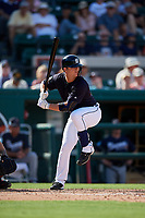 Detroit Tigers pinch hitter Jake Rogers (84) at bat during a Grapefruit League Spring Training game against the Atlanta Braves on March 2, 2019 at Publix Field at Joker Marchant Stadium in Lakeland, Florida.  Tigers defeated the Braves 7-4.  (Mike Janes/Four Seam Images)