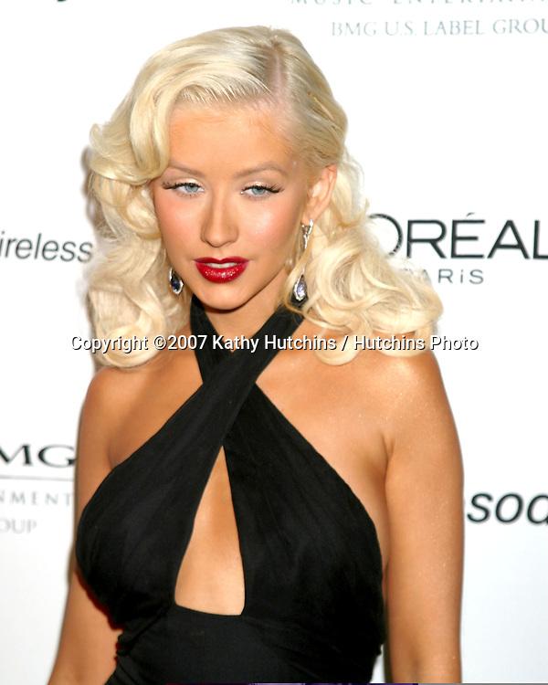 Christina Aguilera.Clive Davis Annual Pre-Grammy Party.Beverly Hilton Hotel.Los Angeles, CA.February 10, 2007.©2007 Kathy Hutchins / Hutchins Photo.