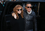 Patti Scialfa and Bruce Springsteen arrive at the Walter Kerr Theater for the official opening night  performance of 'Springsteen On Broadway' on October 12, 2017 in New York City.