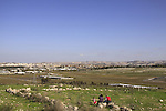 Israel, Shephelah, a view from Titura Hill in Modiin