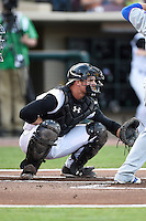 Dayton Dragons catcher Mitch Trees (10) during a game against the South Bend Cubs on May 11, 2016 at Fifth Third Field in Dayton, Ohio.  South Bend defeated Dayton 2-0.  (Mike Janes/Four Seam Images)