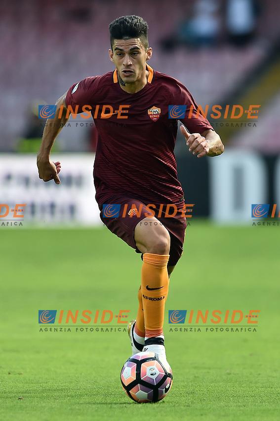 Diego Perotti Roma <br /> Napoli 15-10-2016  Stadio San Paolo <br /> Football Calcio Campionato Serie A Napoli - AS Roma <br /> Foto Andrea Staccioli / Insidefoto