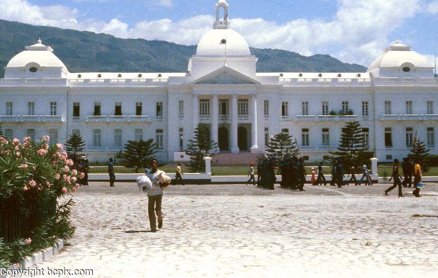 Presidential Palace in Port-Au-Prince, Haiti, 1981.  (Photo by Edward Cleary/www.bcpix.com)