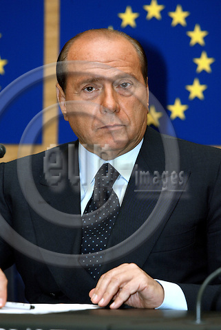 STRASBOURG - FRANCE -22 SEPTEMBER 2002 -- Silvio BERLUSCONI the Italian Prime Minister during the press conference at the EU-Parliament about the result of the EU-Summit of the 16-17.10.2003. -- PHOTO: JUHA ROININEN / EUP-IMAGES