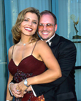 ©2003 KATHY HUTCHINS / HUTCHINS PHOTO.LOS ANGELES AREA EMMYS - LOCAL.TELEVISION ACADEMY THEATER.NO. HOLLYWOOD, CA.SEPTEMBER 6, 2003..MINDY BURBANO, FIANCE