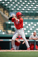 Philadelphia Phillies Luis Rojas (9) at bat during a Florida Instructional League game against the Baltimore Orioles on October 4, 2018 at Ed Smith Stadium in Sarasota, Florida.  (Mike Janes/Four Seam Images)
