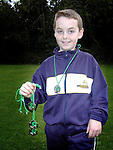 Patrick Lennon from Cartown who won medals in the 60 metres, 100 metres, shot putt and discus..Picture Paul Mohan Newsfile