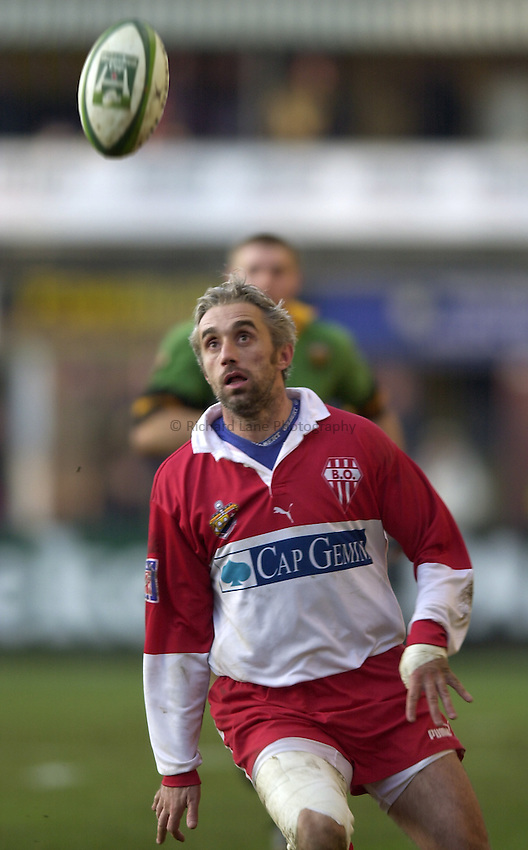 Photo. Richard Lane. .Northampton Saints v Biarritz. Heineken Cup. 11/01/2003..Philippe Bernat-Salles.