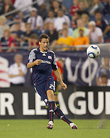 New England Revolution midfielder Marko Perovic (29) passes the ball. The New England Revolution defeated LA Galaxy, 2-0, at Gillette Stadium on July 10, 2010.