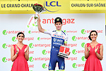 Yoann Offredo (FRA) Wanty-Gobert Cycling Team wins the day's combativity prize at the end of Stage 7 of the 2019 Tour de France running 230km from Belfort to Chalon-sur-Saone, France. 12th July 2019.<br /> Picture: ASO/Alex Broadway | Cyclefile<br /> All photos usage must carry mandatory copyright credit (© Cyclefile | ASO/Alex Broadway)
