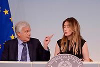 Roma, 10 Maggio 2017<br />  Gian Luca Galletti, Maria Elena Boschi<br /> Presentazione a Palazzo Chigi di ItaliaSicura