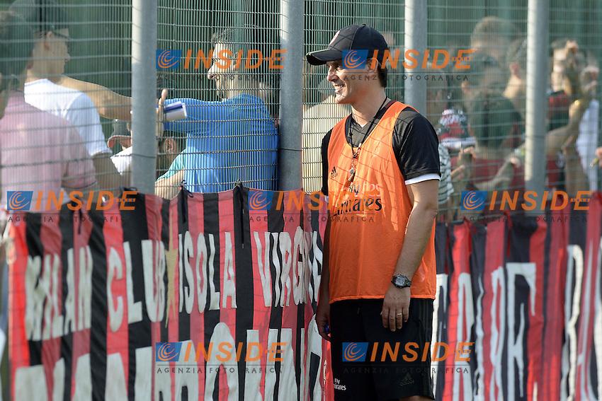 Carnago (Va) 07/07/2015 - 2016/2017 Calcio raduno A.C. Milan Football pre season training  / foto Daniele Buffa/Image Sport/Insidefoto<br /> <br /> <br /> nella foto: Vincenzo Montella