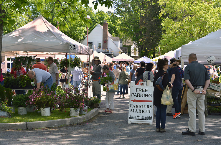 Overview of the scene at the Opening Day of the 2017 Saugerties Farmer's Market on Saturday, May 27, 2017. Photo by Jim Peppler. Copyright/Jim Peppler-2017.