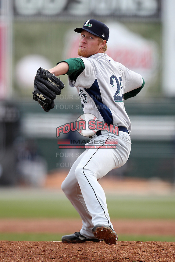 Lexington Legends starting pitcher Michael Foltynewicz #25 delivers a pitch during a game against the Hagerstown Suns at Municipal Park on April 11, 2012 in Hagerstown, Maryland.  Lexington defeated Hagerstown 3-0.  (Mike Janes/Four Seam Images)