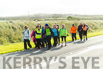 Pilgrims walking from Tralee to Ballyheigue for the Ballyheigue Pattern day mass.
