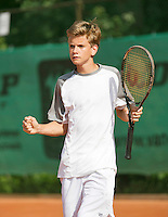 August 4, 2014, Netherlands, Dordrecht, TC Dash 35, Tennis, National Junior Championships, NJK,  Alec Deckers (NED)<br />